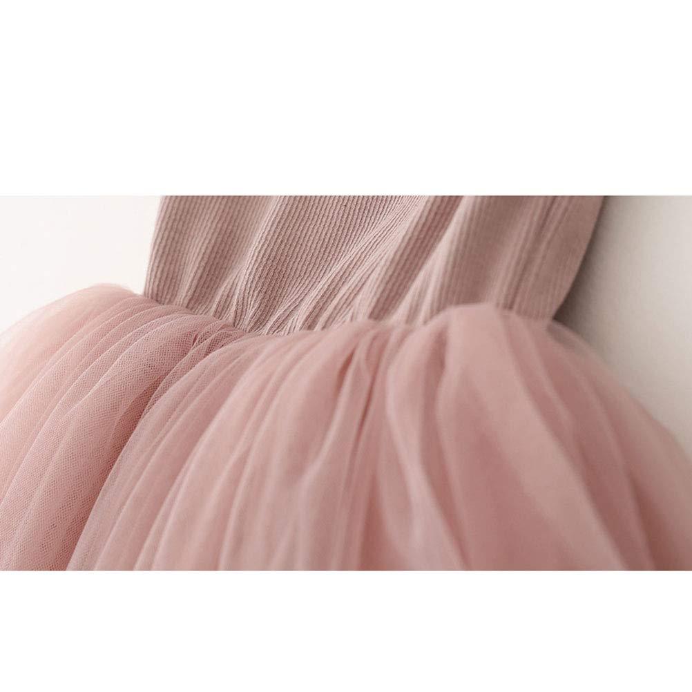 YUN HAO Little Girl Spaghetti Strap Swan Princess Tutu Dress Tulle Sundress