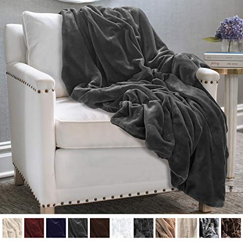 - The Connecticut Home Company Ultimate Velvet with Sherpa Throw Blanket, Super Soft, Large Plush Reversible Blankets, Warm and Hypoallergenic Washable Couch/Bed Throws, Microfiber 65