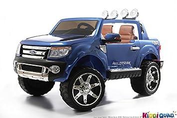 Ford - Coche eléctrico para niños, Ford Ranger, 2 plazas, 12 V, 2 motores, color azul metalizado: Amazon.es: Juguetes y juegos