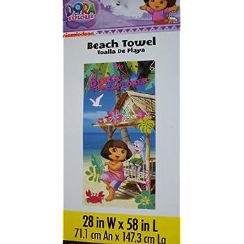 Dora the Explorer Tiki Hut Beach Towel
