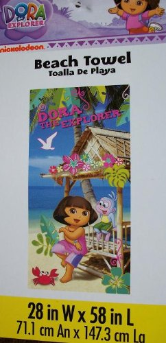 - Dora the Explorer Tiki Hut Beach Towel