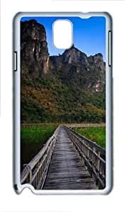 Lake And Mountains Landscape Custom Samsung Galaxy Note 3/ Note III / N9000 - Polycarbonate - White