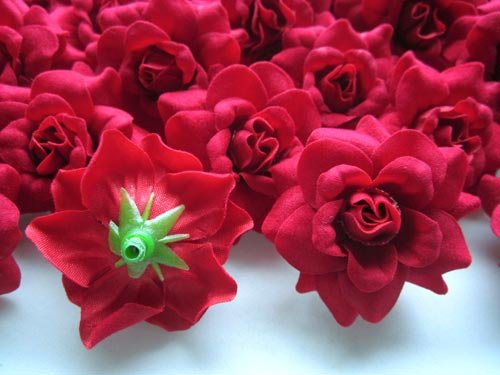 Amazon 100 silk red roses flower head 175 artificial amazon 100 silk red roses flower head 175 artificial flowers heads fabric floral supplies wholesale lot for wedding flowers accessories make mightylinksfo Choice Image