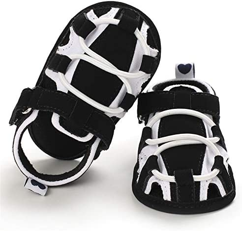 512gD8o3bCL. AC - TIMATEGO Infant Baby Boys Girls Summer Sandals Soft Sole Anti-Slip Newborn Toddler First Walkers Crib Athletic Shoes(0-18 Months)