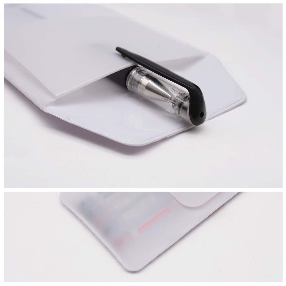 Hantier 50 Pcs Pocket Protector Bianco per lufficio Dellospedale Della Scuola; Camicie Camice da Laboratorio Pantaloni Proteggi Tasca Forniture per Perdite di Penna