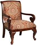 Cheap Diana Wood and Red Upholstered Accent Chair