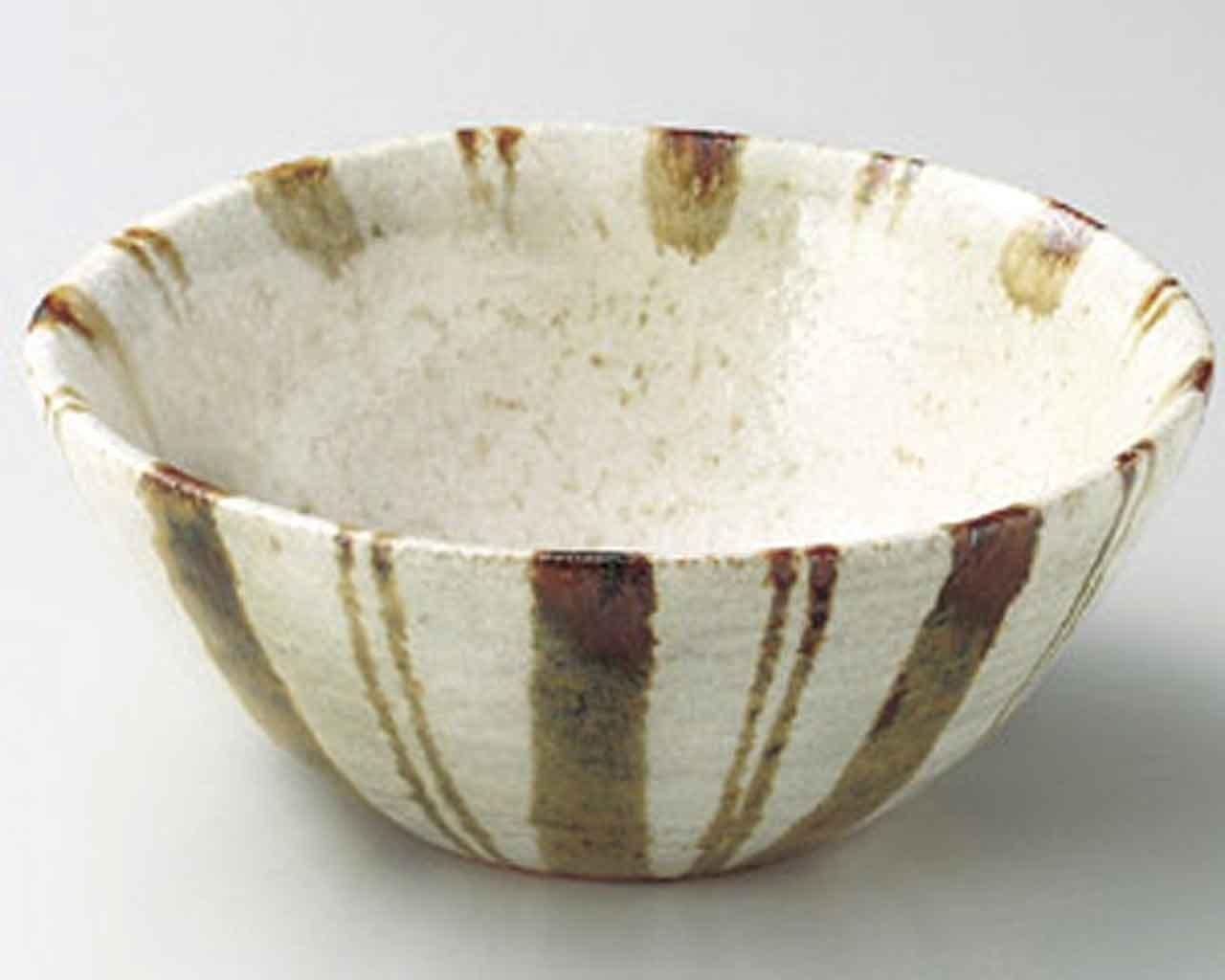 Shiratae Tokusa 13.5cm Suppenschalen Beige Ceramic Japanisch traditionell