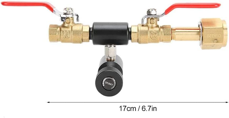 CO2 Cylinder Refill Adapter Double Valve DIN477 with Soda Black ...