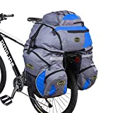 Bike Panniers,Mikphone Pannier Bags 3 in 1 Double Rear Bicycle Trailers...