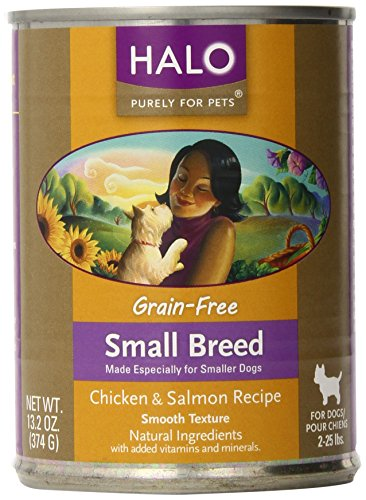 Halo 12-Pack Grain Free Chicken and Salmon, Small Breed Dog Food, 13.2-Ounce