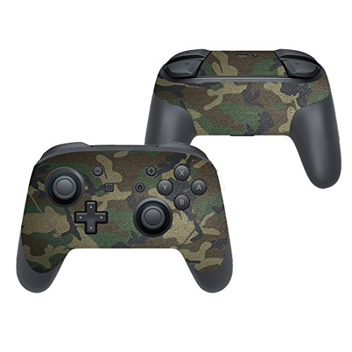 eSeeking Switch Skin Whole Body Vinyl STICKER Decal Cover for Nintendo Switch Pro Controller Camouflage