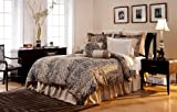 Pointehaven Printed 300 TC 3-Piece 100-Percent Combed Cotton Duvet Set, Urban Safari, Queen