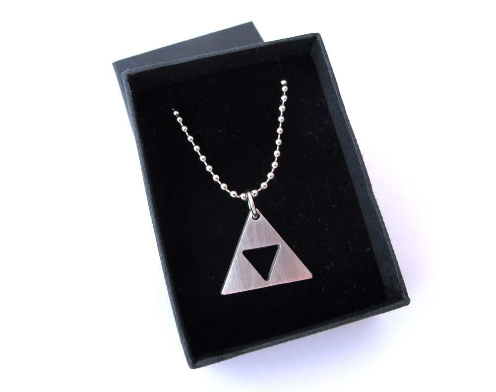 Zelda Triforce Matte Necklace - Stainless Steel by Milkool (Image #1)