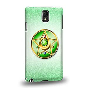 Case88 Premium Designs Art Sailor Moon Crystal Sailor Jupiter Compact Case Protective Snap-on Hard Back Case Cover for Samsung Galaxy Note 3