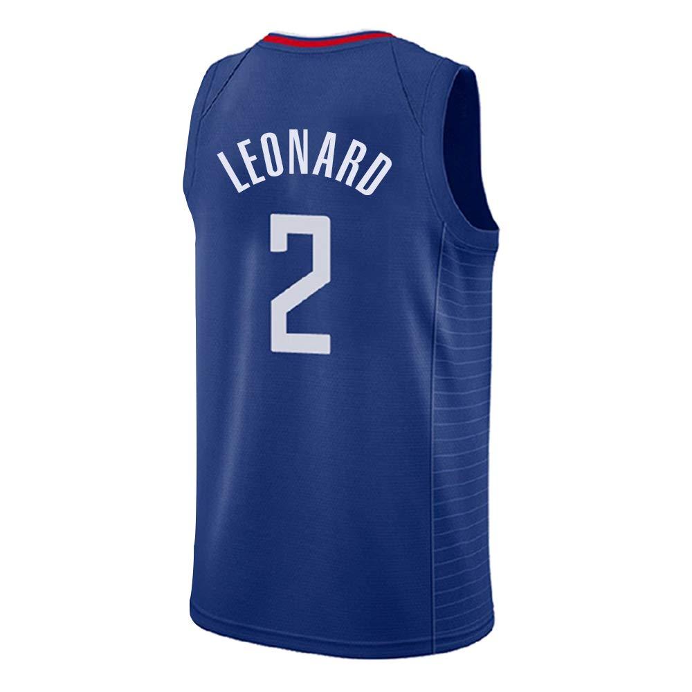 bleu XL Maillot Leonard No. 2 de Los Angeles Clippers, Maillot Leonard   2, Maillot de Basket-Ball, Ensemble sans Manches Classique, T-Shirts de Basket-Ball pour Hommes et Unisexes