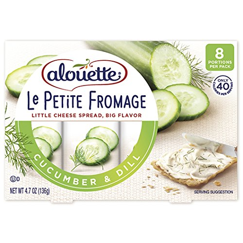 ALOUETTE Le Petite Fromage Cucumber Dill Spreadable Cheese, 4.7 Ounce (Pack of 8)