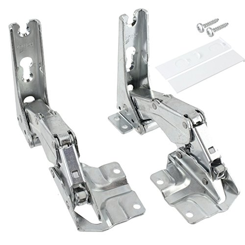 SPARES2GO Hettich Type Integrated Door Hinges Fridge Freezer Set (Left & Right Hinges with Codes: 3306 3702 3307 3703 5.0 ()