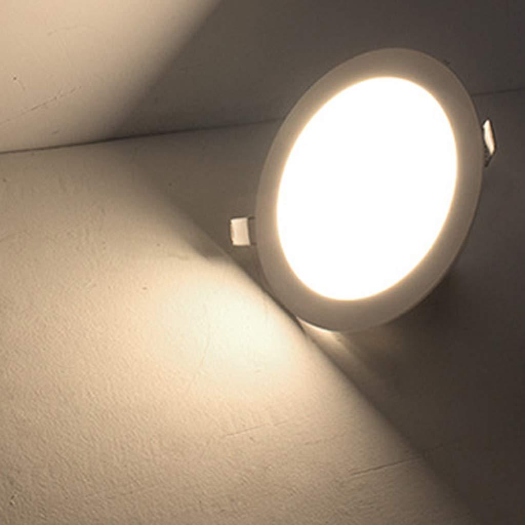 Fenteer 6 Piezas Downlight LED Luz de Techo Regulable Iluminaci/ón Interior 15 cm cuadrado-3500k