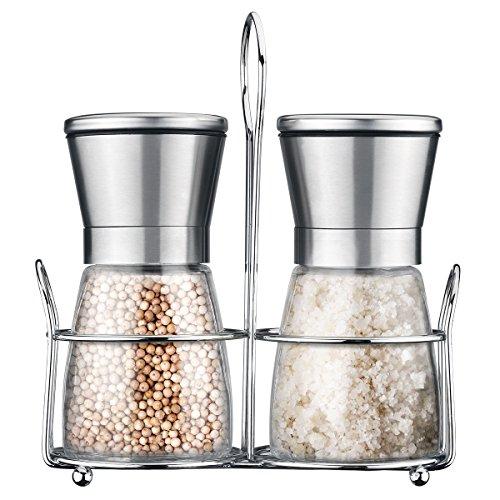 Cymas Salt and Pepper Grinder Set, Brushed Stai...