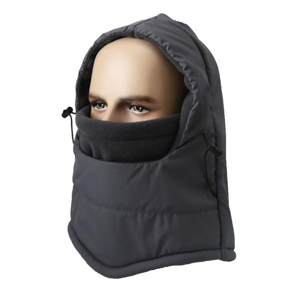 Hmlai Multi-Function Mask Balaclava Windproof Ski Mask Cold Weather Face Cover (Style 2-Dark Gray)
