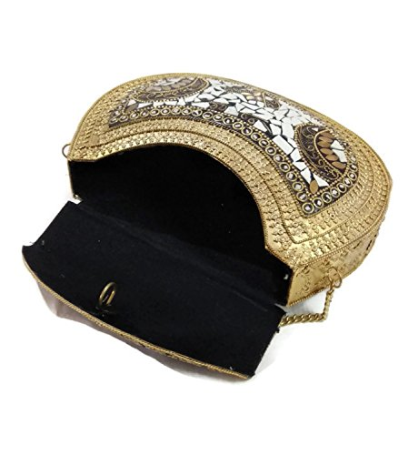 Attractive Lock Wedding Bridal Hand Clutch Handbag wallet purse with high quality fully beaded Crystal ,Rhinestones and diamante, stones, women party clutch bag