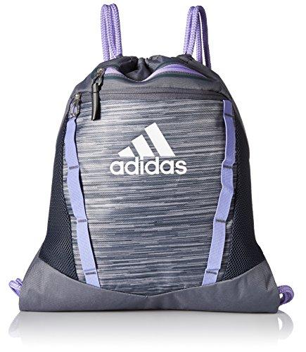 adidas Unisex Rumble Ii Sackpack, Onix Looper/Light Flash Purple/White, One Size