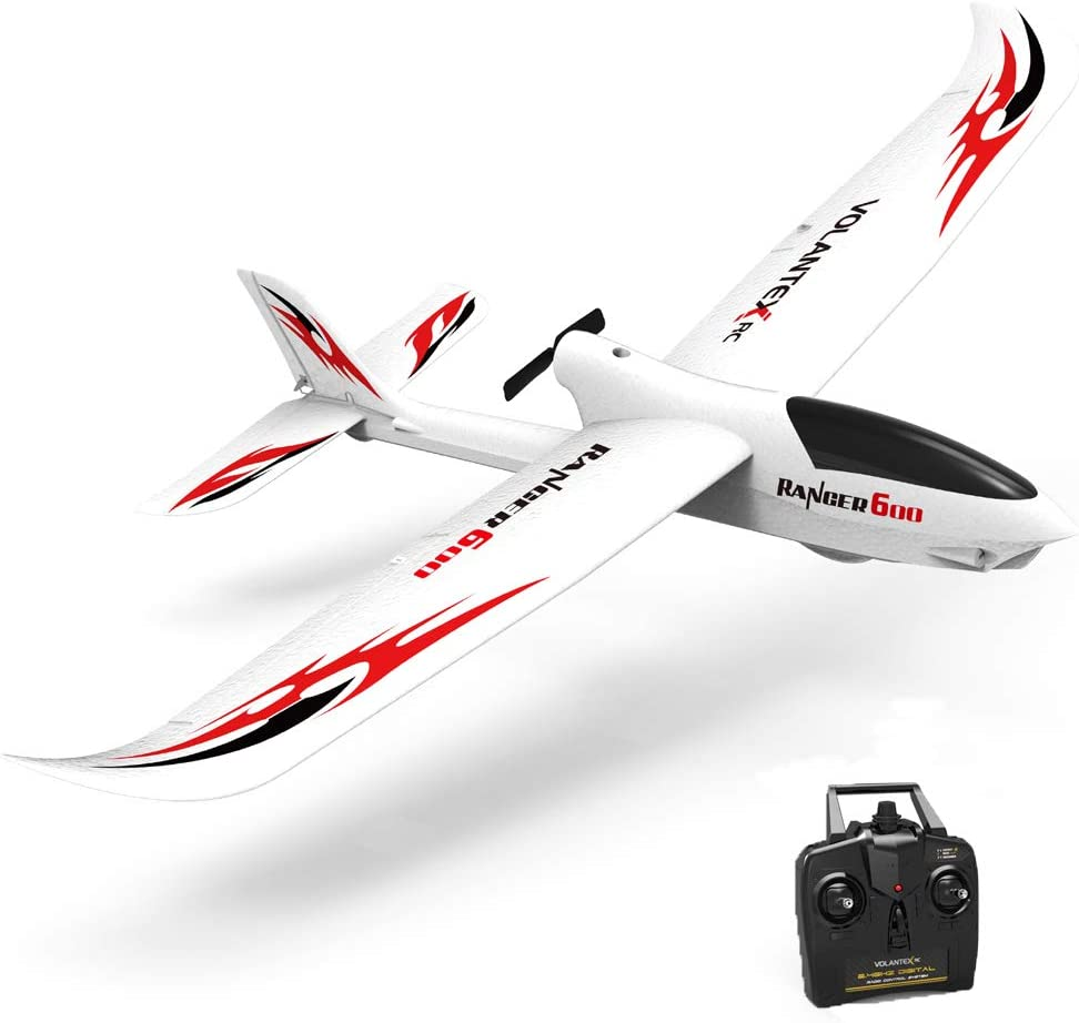 VOLANTEXRC RC Glider Plane Remote Control Airplane Ranger600 Ready to Fly, 2.4GHz Radio Control Aircraft with 6-Axis Gyro Stabilizer, One-Key Return Function for Beginners (761-2 RTF)