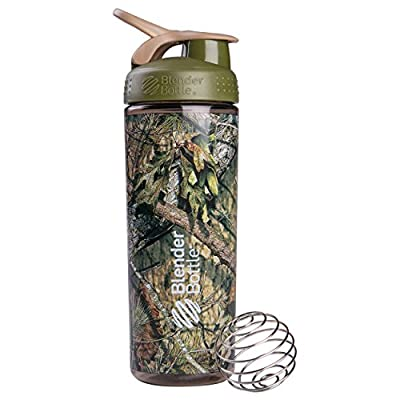BlenderBottle SportMixer Sleek Shaker Bottle, Mossy Oak Camo, 28-Ounce