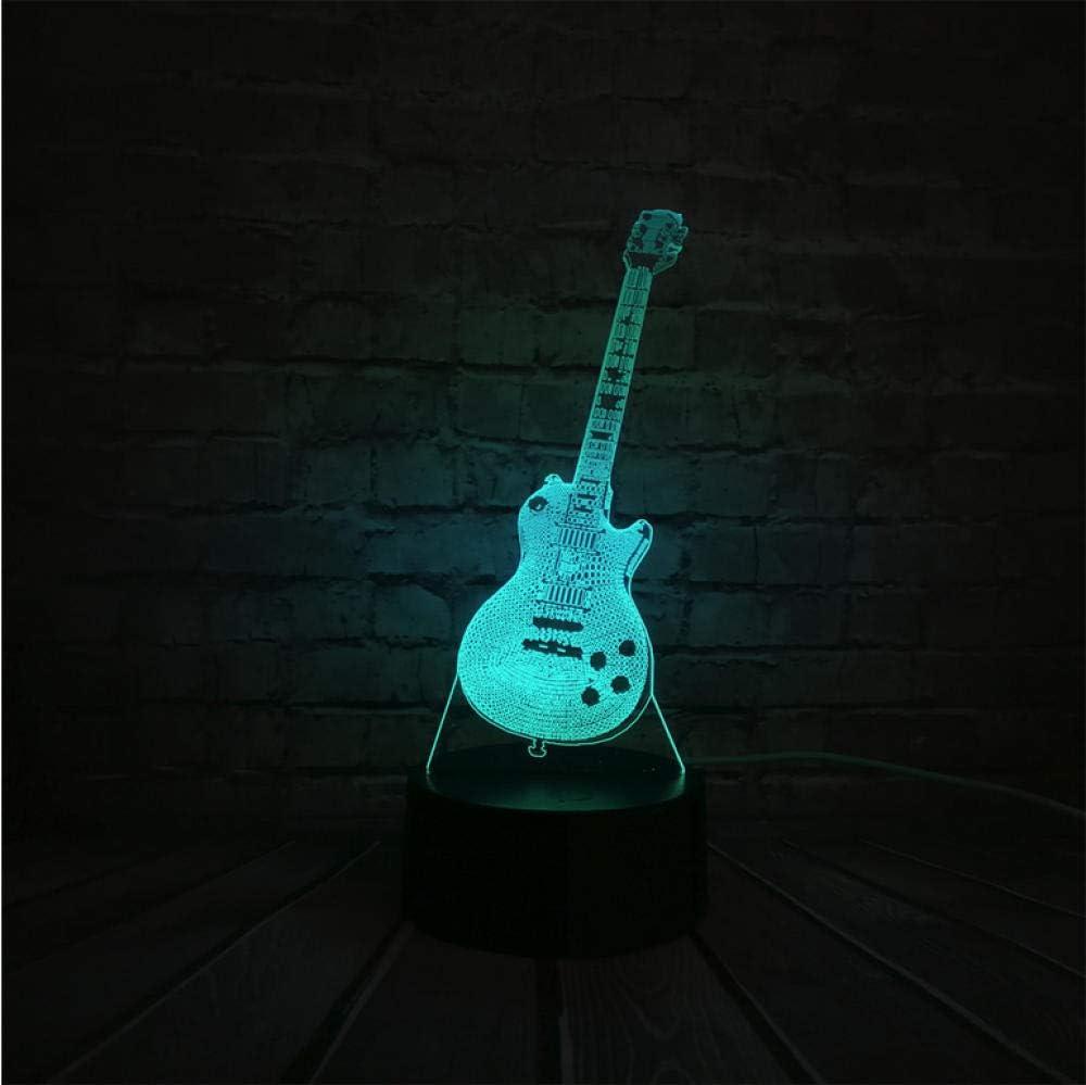 Zonxn - Lámpara LED de noche para guitarra, luz de noche 3D para músicos y decoración del hogar, regalo de cumpleaños o Navidad: Amazon.es: Iluminación