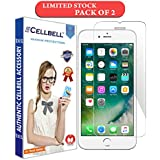 CELLBELL Apple iPhone 6 Plus,7 Plus,8 Plus Screen protector [0.3mm strong Curved Edge Tempered Glass], compatible with 3D touch and Round edge cases-PACK OF 2