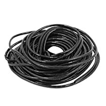 uxcell® 4mm Dia 25M Length Cable Wire Tidy Wrap Spiral Wrapping Band Organizer Black