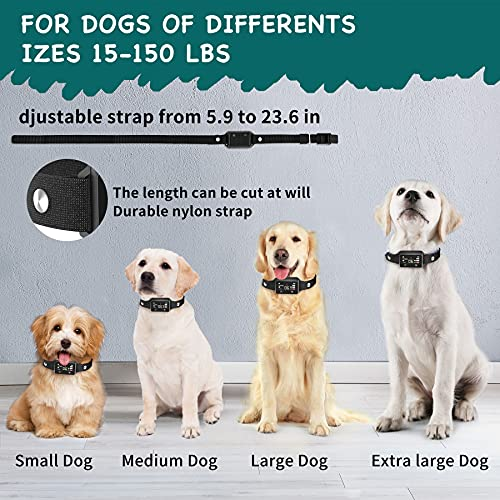 Metkiio Smart Bark Collar, High Sensitive Anti Bark Collar with Touch Screen, Rechargeable No Barking Dog Collar with Sound, Vibration & Static Modes, No Bark Collar for Small Medium Large Dogs