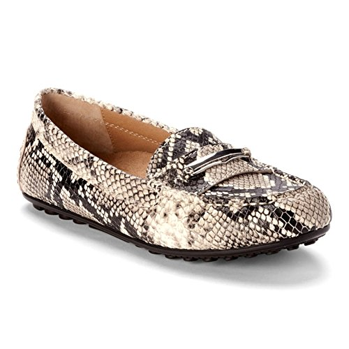 Vionic New Womens Honor Ashby Loafer Natural Snake 6.5