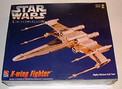 Star Wars X-Wing Fighter Model Kit Gold Tone Limited Edition