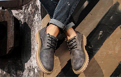 Martin gray Tendance Outillage Jeunes LINYI Van Bottes Hommes Retro Bottes Bottes Chaussures Britannique X17qHv7