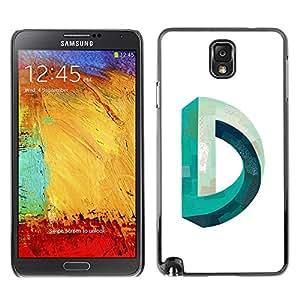 GOODTHINGS Funda Imagen Diseño Carcasa Tapa Trasera Negro Cover Skin Case para Samsung Note 3 N9000 N9002 N9005 - D Mobius imposible trullo blanco