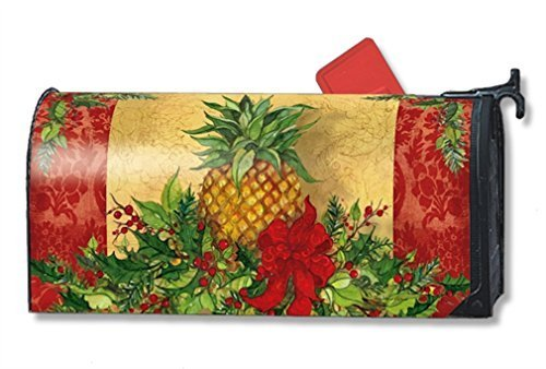 MailWraps Christmas Pineapple Mailbox Cover #01238 by MailWraps Mailwraps Pineapples