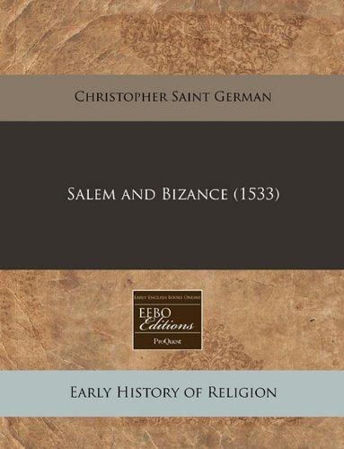 Download Salem and Bizance (1533) pdf epub