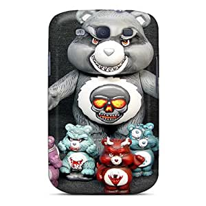 RachelMHudson Case Cover Protector Specially Made For Galaxy S3 Evil Care Bears