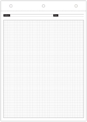 Day-Timer Magna Pad Refills, Graph Pages, 8.5 x 12 Inches, Set of 2 Pads (D16826) (Magna Page)