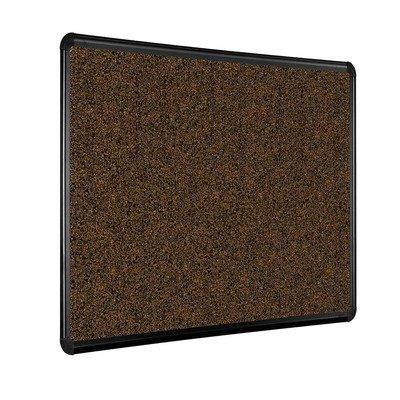 Black Splash-Cork Tackboard with Presidential Trim Size: 4' x 8' by Best-Rite