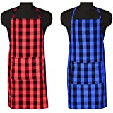 COMFORT WEAVE Cotton Kitchen Apron Free Size (Pack of 2 Pieces)