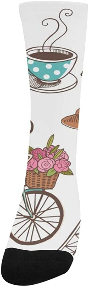 Paris French Romantic Love Polyester Crazy Warm Crew Soccer Compression Knee High Dress Troser Sock For Men Women Kids And Toddler Botts Shoes Outdoor Use Machine Washable