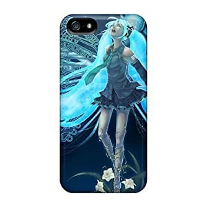 Hot Xlg10046fHhu Wings Vocaloid Hatsune Miku Long Hair Twintails Case For Ipod Touch 5 Cover