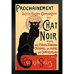 ProFrames Le Chat Noir The Black Cat Vintage Advertisement Framed Poster 12x18