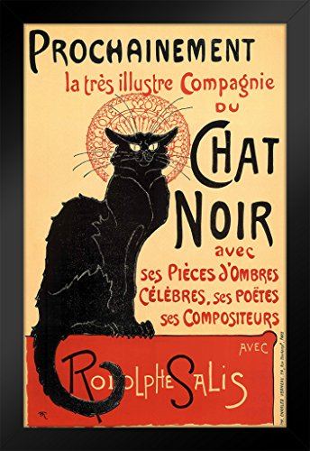 Le Chat Noir The Black Cat Vintage Advertisement Framed Poster 14x20 -