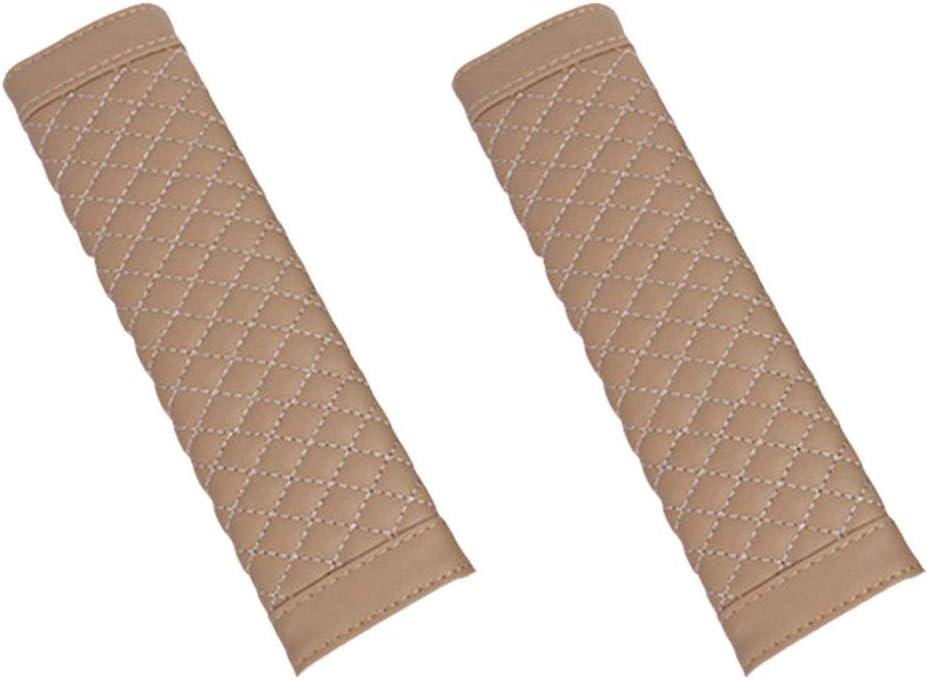 Farbe : Beige Sicherheitsgurt-Schulter-Auflage-Kissen 1 Paar Stilvolle Auto-Sicherheits-Sicherheitsgurt-Leder-Autositz-Schultergurt-Auflage-Kissenbezug Auto G/ürtel-Schutz For Erwachsene Kinder