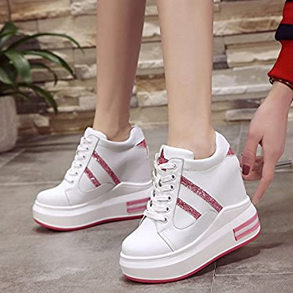 85e9368aa GTVERNH In The Spring Increased Shoes Thick Soles All-Match Leisure Color  Sports Shoes Female