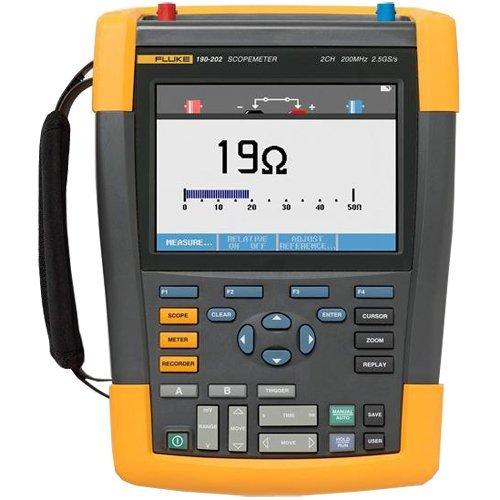 Fluke 190-062/AM 2 Channel LCD Color ScopeMeter Oscilloscope, 60 MHz Bandwidth, 5.8ns Rise time