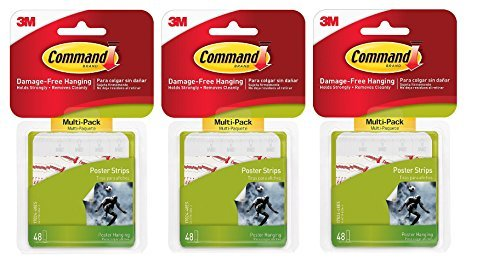Command Poster Hanging Strips Value-Pack, Small, White, 144-Pairs